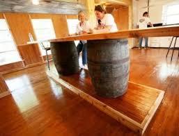 Wine Barrel Patio Table Discount Patio Furniture Using Wine Barrels Blissfully Domestic