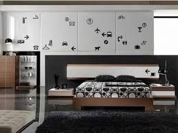 lovely black and white modern bedroom design and decorations