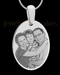 photo engraved necklace silver large oval photo engraved pendant and circle engraved jewelry