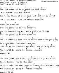 Count Your Blessings Lyrics And Chords I Ll Be Going To Heaven Sometime Bluegrass Lyrics With Chords