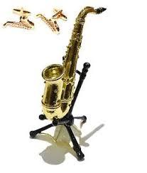 pair of saxophone cufflinks saxophone ornament great sax