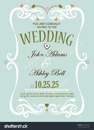 Marriage Wedding Cards Wedding Invitation Card Design In Vector With Border 153504278