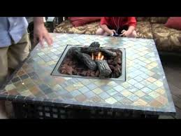 Slate Firepit Uniflame Lp Gas Pit With Slate Table