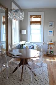 ikea crystal chandelier dining room eclectic with wood dining