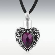 urn pendants near heart stainless steel cremation jewelry