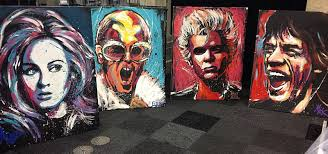 hire a speed painter live corporate entertainment scarlett