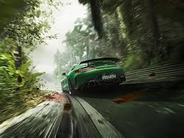 lewis hamilton drives amg gt r out of the track jungle w video
