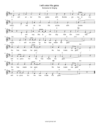 hymns of thanksgiving and praise hymn i will enter his gates