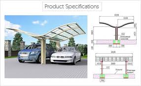 Car Port For Sale Luxury Carport Butterfly Aluminum Double Carport Sunshield