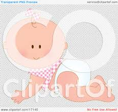 halloween bow with transparent background caucasian baby in a pink checkered shirt and bow on her hair