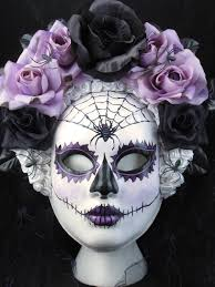 dark beauty mask for day of the dead dia de los muertos costume
