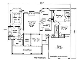 3bed 2bath Floor Plans Marvellous Inspiration 3 Bedroom 2 Bath House Plans With Basement