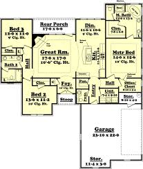 3 bedroom 2 bath floor plans traditional style house plan 3 beds 2 50 baths 1800 sq ft plan 430 60