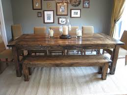 Rustic Farmhouse Dining Table With Bench Kitchen Awesome Rustic Farmhouse Table Farmhouse Dining Table