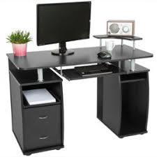 bureau pour ordinateur informatique multimédia meuble de bureau pour ordinateur 115 cm