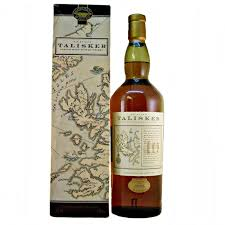 Scotch Whisky Map Talisker Scotch Whisky 10 Year Old Old Style Map Label