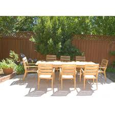 Teak Outdoor Dining Table And Chairs Decor Enchanting Smith And Hawken Teak Patio Furniture In Natural