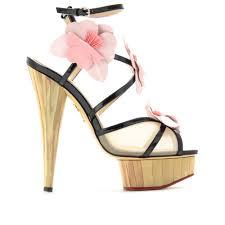 shoeniverse charlotte olympia botanica pam platform sandals in black