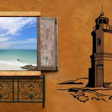 lighthouse decal vinyl sticker home wall office bedroom