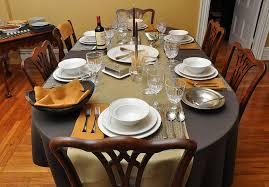 Dining Table Set Up Dinner Table Setting Michigan Home Design Dining