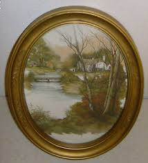 homco home interior homco home interior picture gold oval frame house lake water