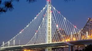 Bay Bridge Lights Construction Of New San Francisco Bay Bridge In 4 Minutes