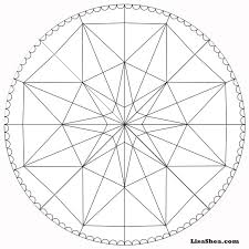 star printable mandala