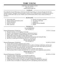 Computer Repair Technician Resume Maintenance Technician Resume Maintenance Resume Examples