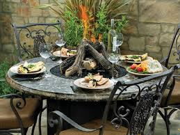 Firepit Dining Table by Dining Tables Fire Pit Table Top Hidden Tank Fire Pits Gas Fire