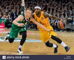 vilnius lithuania 2nd feb 2017 tyrese rice r from fc barcelona