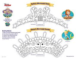 sofia the mermaid print out and color away crafts activities