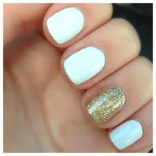white and gold nails i luv the 1 ring finger different nails