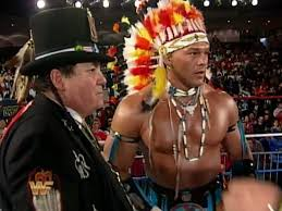 thanksgiving indian chief art of gimmickry the native american wrestler