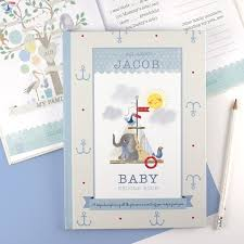 baby record book personalised boy s baby record book gettingpersonal co uk