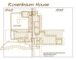 frank lloyd wright floor l frank lloyd wright usonian houses a look at the rosenbaum house