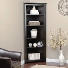 Bookcase Corner Unit Black Corner Bookshelves American Hwy