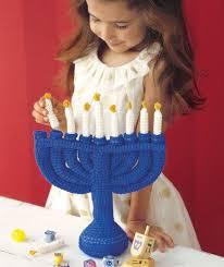 children s menorah child s menorah free crochet pattern from heart yarns new
