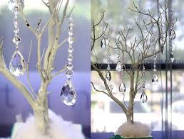 tree centerpiece hanging crystals for manzanita tree centerpiece trumpet vase