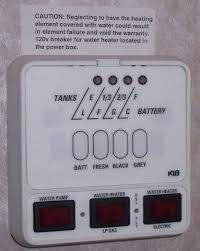 hw heater power on switches what does your camper have