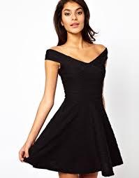 49 88 asos off shoulder skater dress in rib formal dresses