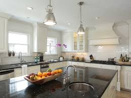 Brushed Nickel Faucet Kitchen by Fantastic Kitchen With Ivory Kitchen Cabinets With Black Granite