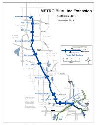 Valley Metro Map by City Of Golden Valley Mn Metro Blue Line Extension Map Large