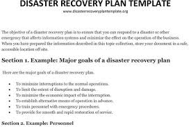 disaster recovery plan template download free u0026 premium