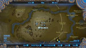 Map Of Hyrule Zelda Breath Of The Wild Ex Ancient Horse Rumors Quest How To