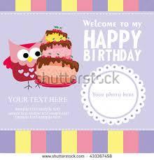 set birthday greeting cards design stock vector 431651575
