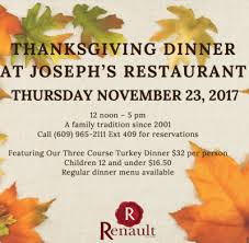 thanksgiving dinner at joseph s restaurant best of nj nj