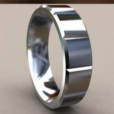 simple mens wedding bands 4mm mens grey steel wedding band with from untildeathwedrings on