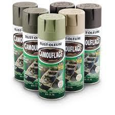 rustoleum camouflage khaki spray paint