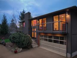 split level garage modern home receives makeover inside and out sawhorse design and