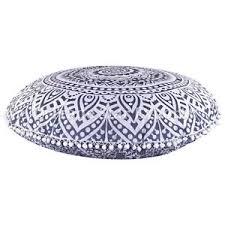 Pouf Ottoman Insert Indian Ombre Mandala Floor Cushion Cover Large Ottoman Poufs